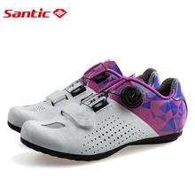 Santic/Новинка, нескользящая дорожная обувь для велоспорта, Женская дышащая обувь для горного велосипеда, обувь для отдыха, обувь на плоской подошве для шоссейного велосипеда, 36-39