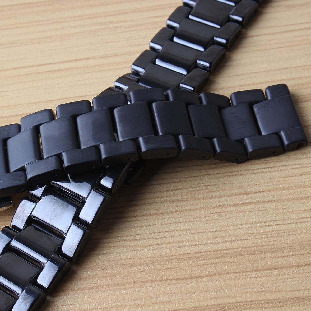 Black Watchbands replace new 20mm Ceramic Watchband for Samsung Gear S2 S4 Classic Smart Watches solid Link Strap Bracelet matte все цены