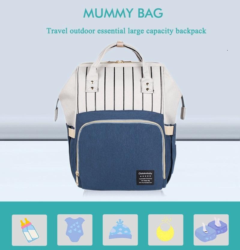 HTB1wMPRdwmH3KVjSZKzq6z2OXXaW Large Capacity Mommy Maternity Bag Diaper Nappy Bag Bolsa Maternida Printed Bebe Bag Travel Backpack Desiger Nursing Baby Care