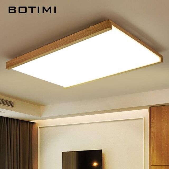 US $156.0 |BOTIMI Janpaness Holz Decke Leuchtet Moderne Wohnzimmer Lampe  Lamparas de techo Leuchten Für Schlafzimmer Küche Esszimmer in BOTIMI ...
