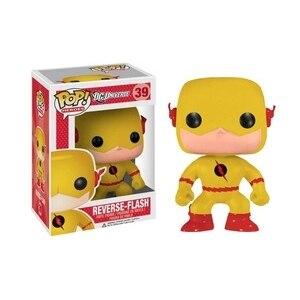 Héros officiels exclusifs Funko pop DC: figurine à collectionner en vinyle à Flash inversé avec boîte d'origine