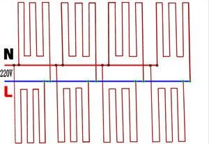 Image 4 - Cabo de aquecimento de fibra de carbono do termostato da sala de assoalho quente infravermelho distante da borracha do silicone vermelho