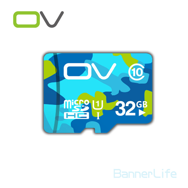 10PCS/LOT OV Colorful Memory Micro SD Card 32GB Class 10 UHS-1 TF Carte Microsd Flash Card SDCard for Mobile Phone Smartphone