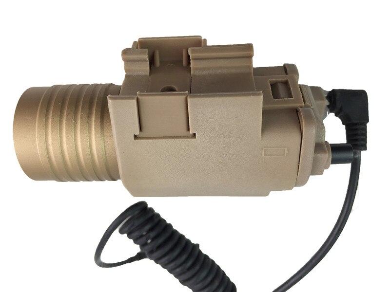 Tactical M6 White Light Flashlight Laser Scope Outdoor Hunting ABS material black 20mm Weaver rail M6 Flashlight Laser sight
