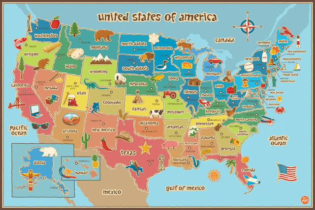 Usa America Oem Pops Peel Dry Erase World Physical Map Hd Large Cute Us Map