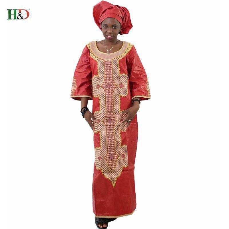 Ücretsiz kargo Afrika geleneksel bazin riche kadın pamuk işlemeli - Ulusal Kıyafetler - Fotoğraf 3