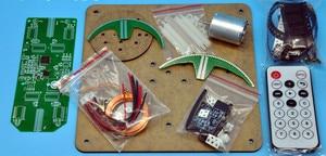 Image 5 - New DIY Spherical Rotating LED Kit  POV Soldering Training Kit