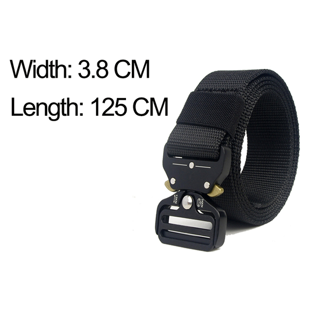 Tactical Belt Men Adjustable Heavy Duty Military Tactical Waist Belts with Metal Buckle Nylon Belt Hunting Accessories 2