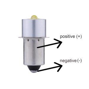 Polaridad inversa e10 p13. 5S 1w 3w LED para foco linterna bombilla linternas lámpara DC3V 3,7 v 4,5 v 6V 7,5 v 9v 12v 15V bombillas