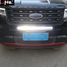 JHO для бездорожья LED дальнего света Автомобильные аксессуары Передняя Решетка Светодиодный мерцающий светильник бар для Ford Explorer 2011- 2013