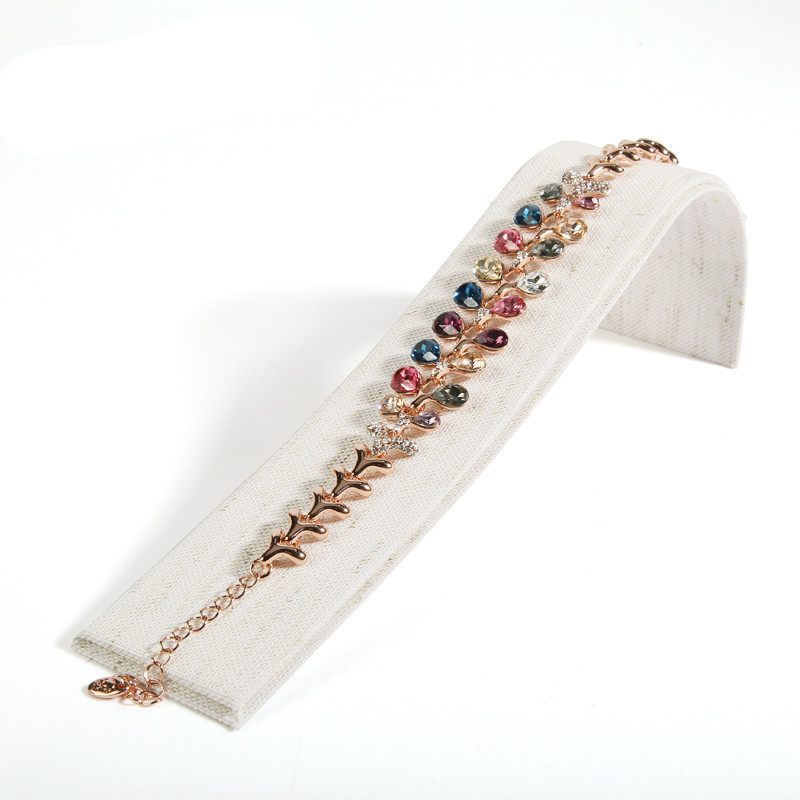 New Linen Jewelry Display Holder Bracelets Watch Display Stand Jewellery Display Props