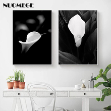 Black White Flower Lover Wall Art Amore Letters Poster Print Scandinavian Canvas Painting Decoration Picture Living Room Decor