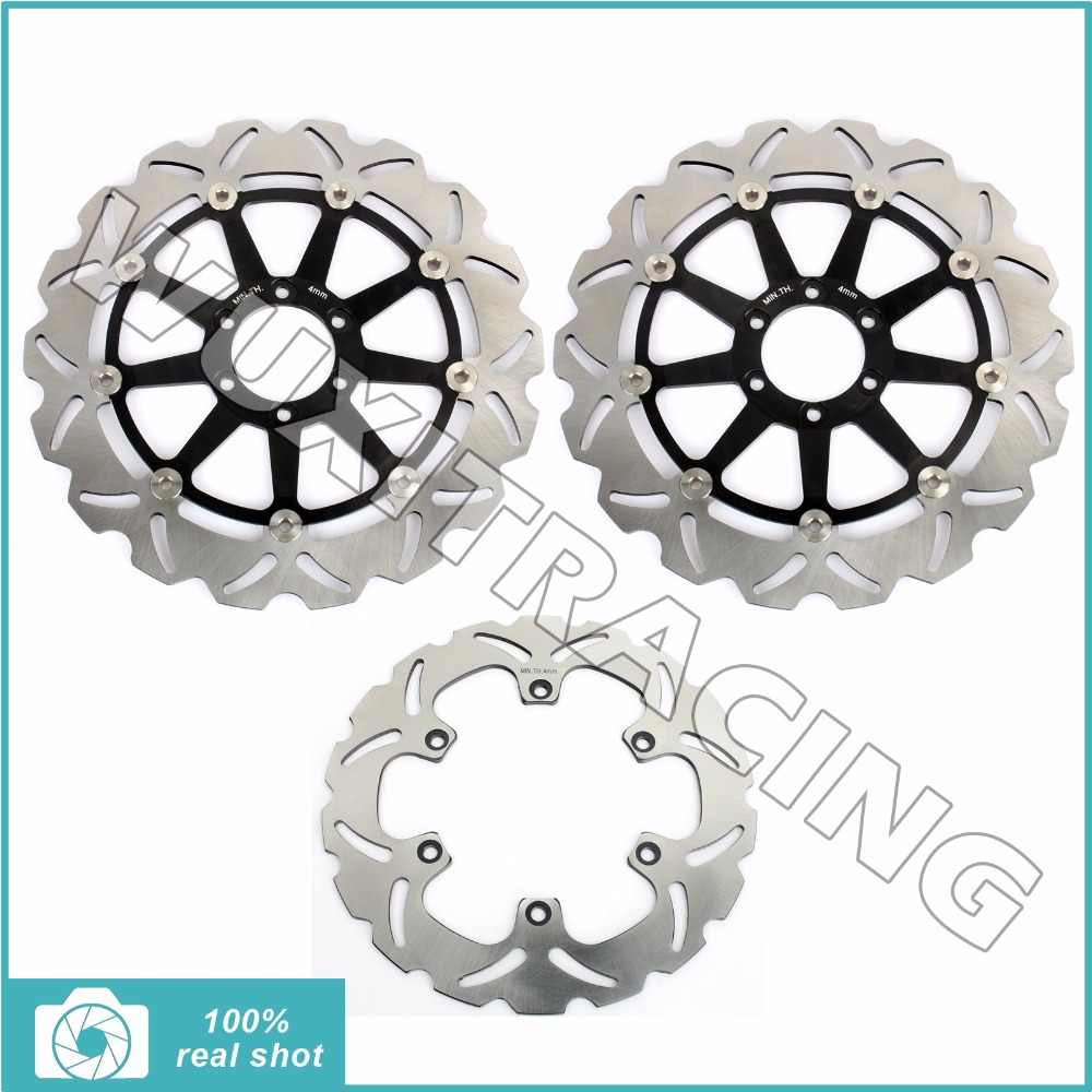 Motor Full Set Front Rear Brake Discs Rotors for YAMAHA FZR 1000 GENESIS EXUP 87-95 88 89 90 91 92 93 94 XJR 1200 95-98 96 97  new front rear brake discs disks rotors fit for yamaha dt r 125 dt125r dt 125 r 88 89 90 91 92 93 94 95 96 97 98 99 00 01 02 03