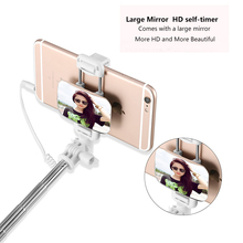 Wired Mirror Selfie Stick for Android/iOS
