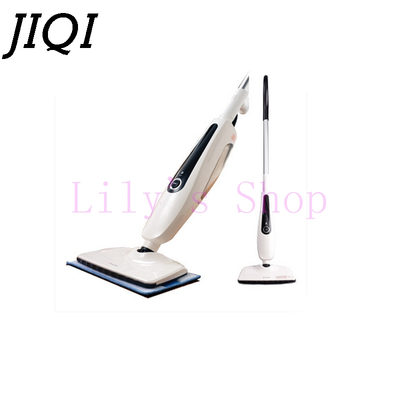 JIQI Household electric steaming mop wood floor cleaning machine drag high temperature sterilization water spray Cleaner sweeper 1pc household high temperature kitchen bathroom steam cleaning machine handheld high temperature sterilization washing machine