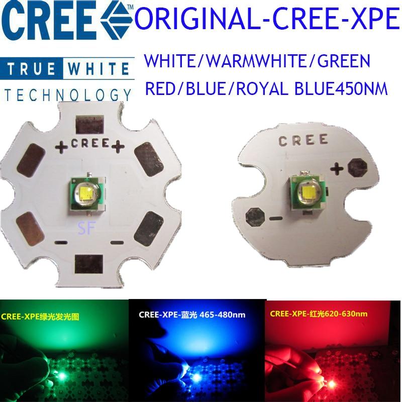 5 шт. CREE XPE XP-E R3 1-3 Вт светодиодный излучатель диод нейтральный белый холодный белый красный зеленый синий королевский синий светодиод с 20/16/14/…