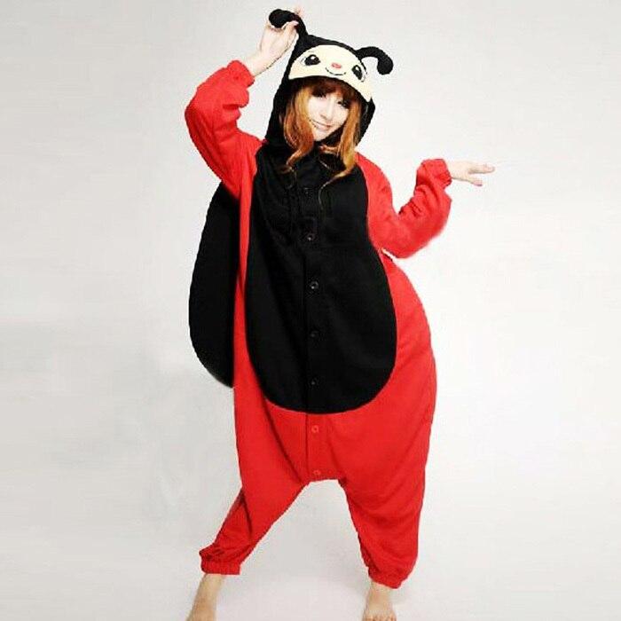 New Adult Unisex Animal Seven Stars Ladybug Ladybird Pajamas Sleepsuit Cosplay Onesie