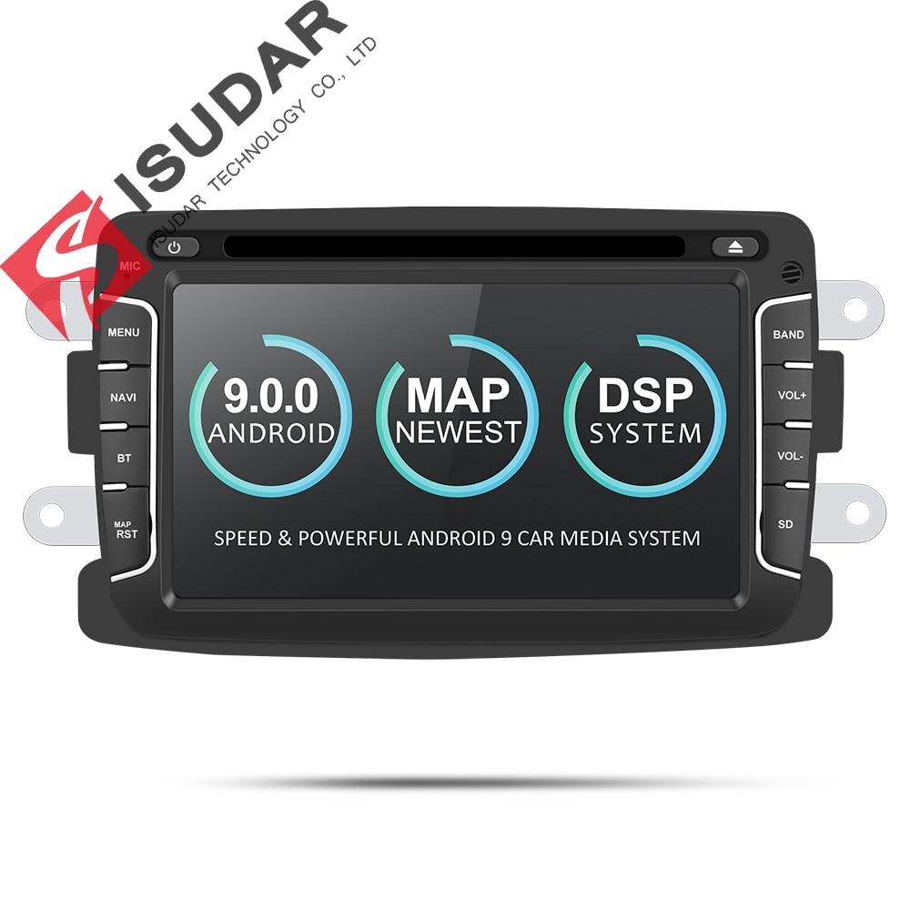 Isudar reprodutor multimídia Carro Android Automotivo 9 2 Din Para Dacia/Sandero/Espanador/Renault/Captur/ lada/Xray 2/Logan 2 GSP RAM 2G