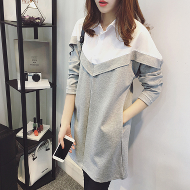 f1744c1ad07 Fashion Pregnant Women Dress 2in1 Shirt Maternity Dress Long Sleeve Spring  and Autumn Shirts OL working-in Dresses from Mother   Kids on  Aliexpress.com ...
