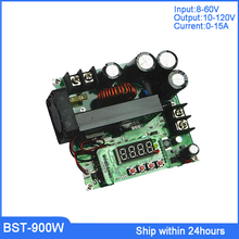 Top 120V 15A CNC Boost Module/Regulator DC Power Supply with LCD Screen/900W Volt-Ammeter/Boost Converter Regulator