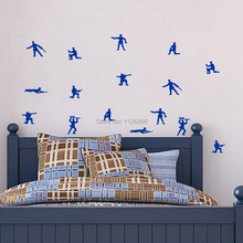 Set Of Army Soldiers Wall Vinyl Sticker Nursery Decals Bosys Bedroom Decor (China)
