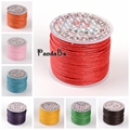 1mm; 25m/roll HOT Fashion Korean Wax Polyester Bead Cord Shamballa String Necklace Making Thread Colorful Black White Red Pink