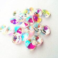 200 шт прозрачный пластик восьмиугольная бусина люстра K9 призмы-кристаллы часть самодельная занавеска Материал украшение для дома аксессуары вечерние украшения