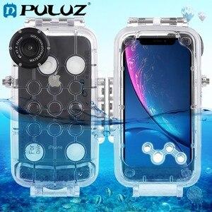 Image 1 - PULUZ עבור iPhone XS מקס/XR/XS מתחת למים דיור 40m/130ft צלילה טלפון מגן מקרה גלישה שחייה שנורקל תמונה וידאו