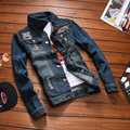 TG6052Cheap wholesale 2016 new Autumn jean jacket hole coat of cultivate one's morality men's leisure clothes