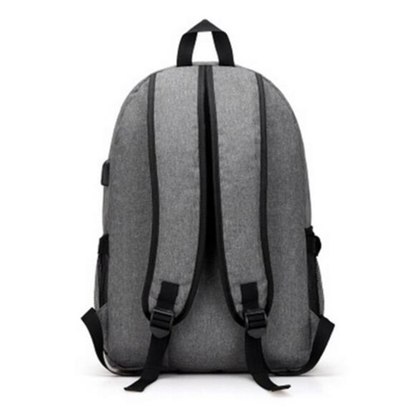 Business Backpack USB Charger Computer Bag Polyester Laptop Backpack Mens Waterproof High School Backpack Student bag mochilas