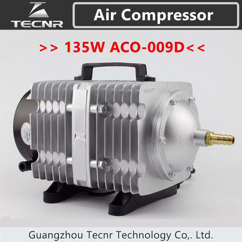 TECNR 135W Air Compressor Electrical Magnetic Air Pump 125L/min for CO2 laser cutting machine ACO-009D 135w air compressor electrical magnetic air pump for co2 laser engraving cutting machine aco 009d