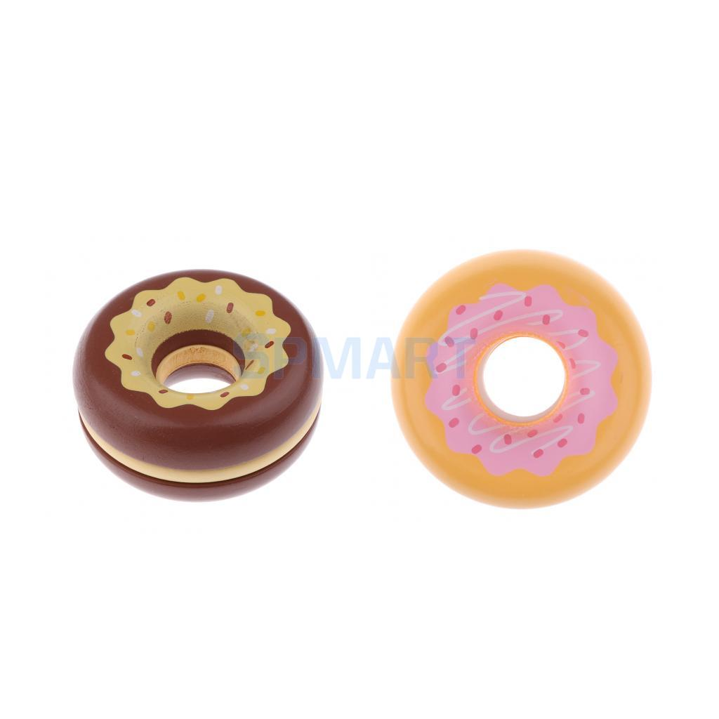 Wooden Magnetic Strawberry/ Chocolate Donut Pretend Kitchen Play ...