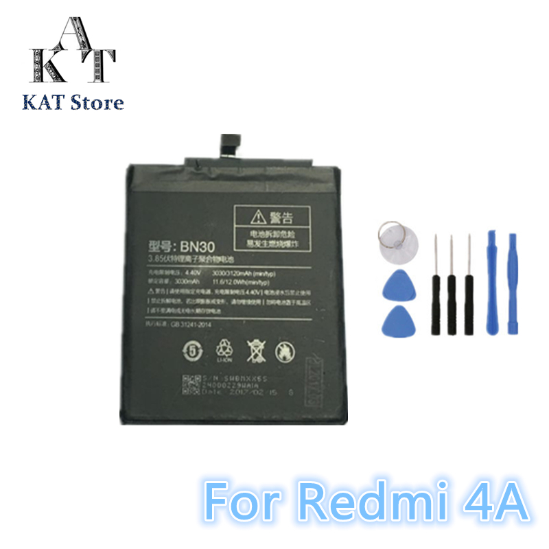 Phone-Battery 4a-Battery-Replacement BN30 Xiaomi Redmi 3120mah For High-Quality AAA Gift-Tools