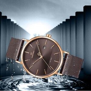 Image 4 - Relógios NAVIFORCE Moda Quartzo Homens Relógio À Prova D Água Esportes dos homens Relógios De Pulso Simples Data Analógico Masculino Relógio Relogio masculino