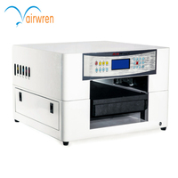 Airwren Multifunction 6 Color UV LED Flatbed Printer with 3D Effect A3 Small Format Digital Inkjet UV Printer with RIP Software
