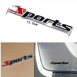 Nuevo estilo de coche pegatinas deportivas de metal 3D para hyundai i20 golf mk2 clio 2 subaru xv renault clio renault logan kia sportage