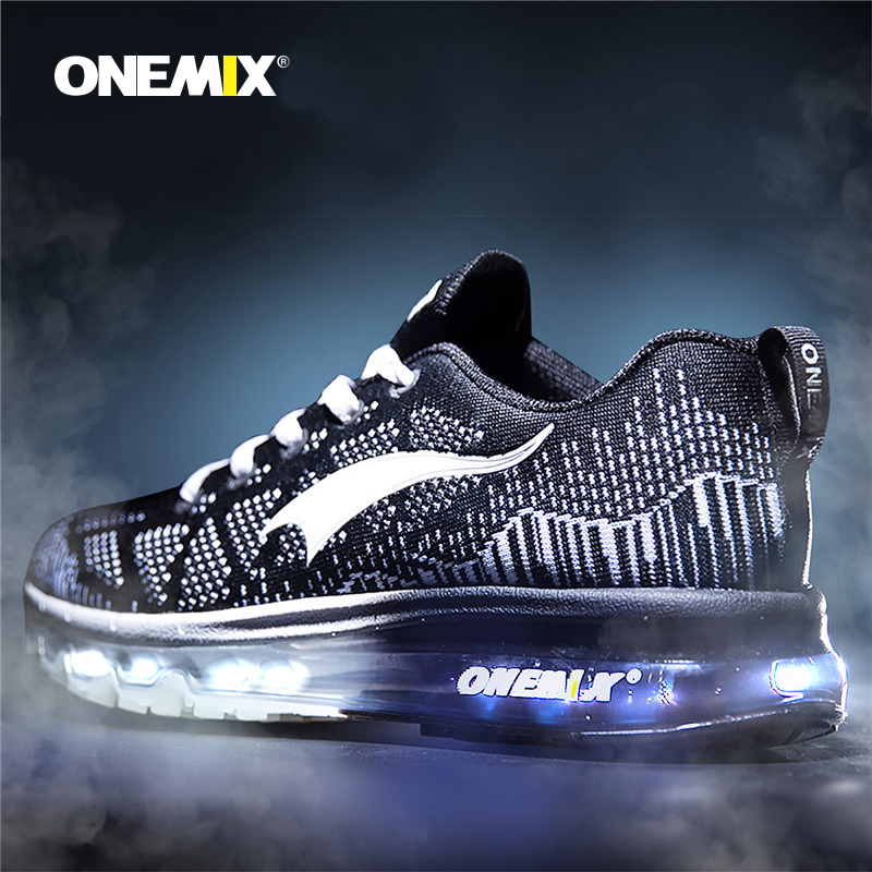 Onemix Hot Sales Men Music Rhythm Breathable Mesh Outdoor Running Shoes Sneakers Men's Sport Shoes Running Men Small Size 5-12.5 onemix men s running shoes breathable zapatillas hombre outdoor sport sneakers lightweigh walking shoes plus size 39 47 sneakers