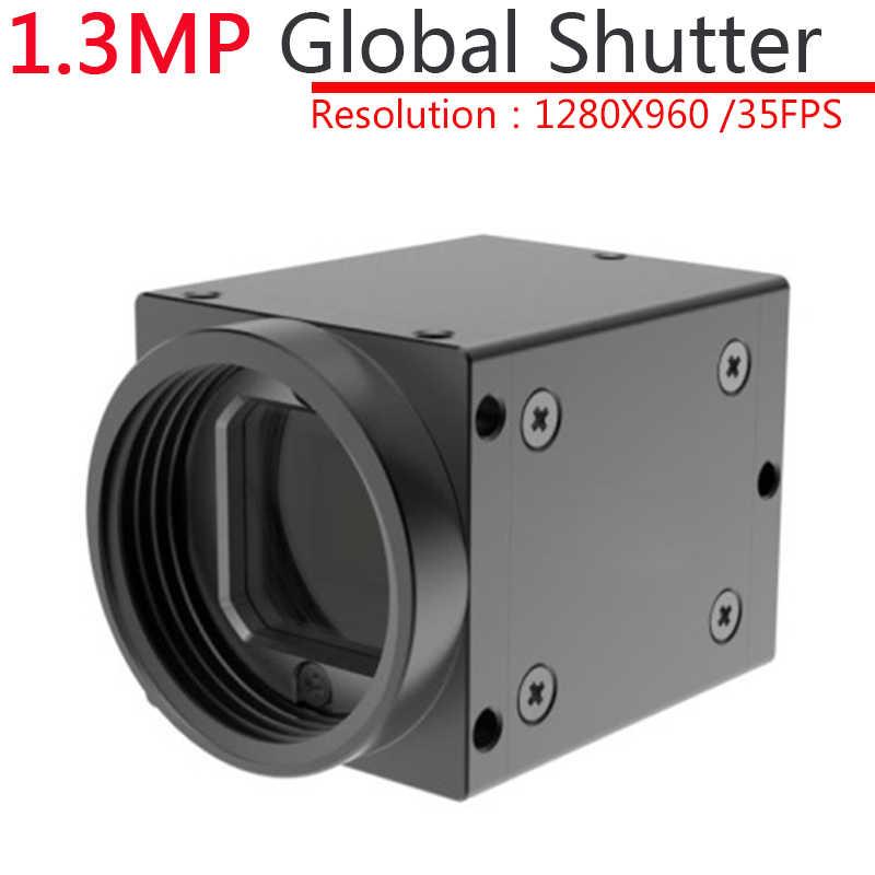 High Speed USB 1 3MP Monochrome Industrial Machine Vision CCD Digital  Camera + SDK Global Shutter External Trigger,OpenCV