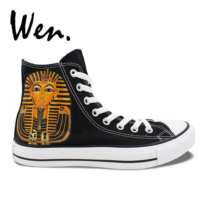 Canvas High Top Sneaker Casual Skate Shoe Boys Girls Egypt Flag
