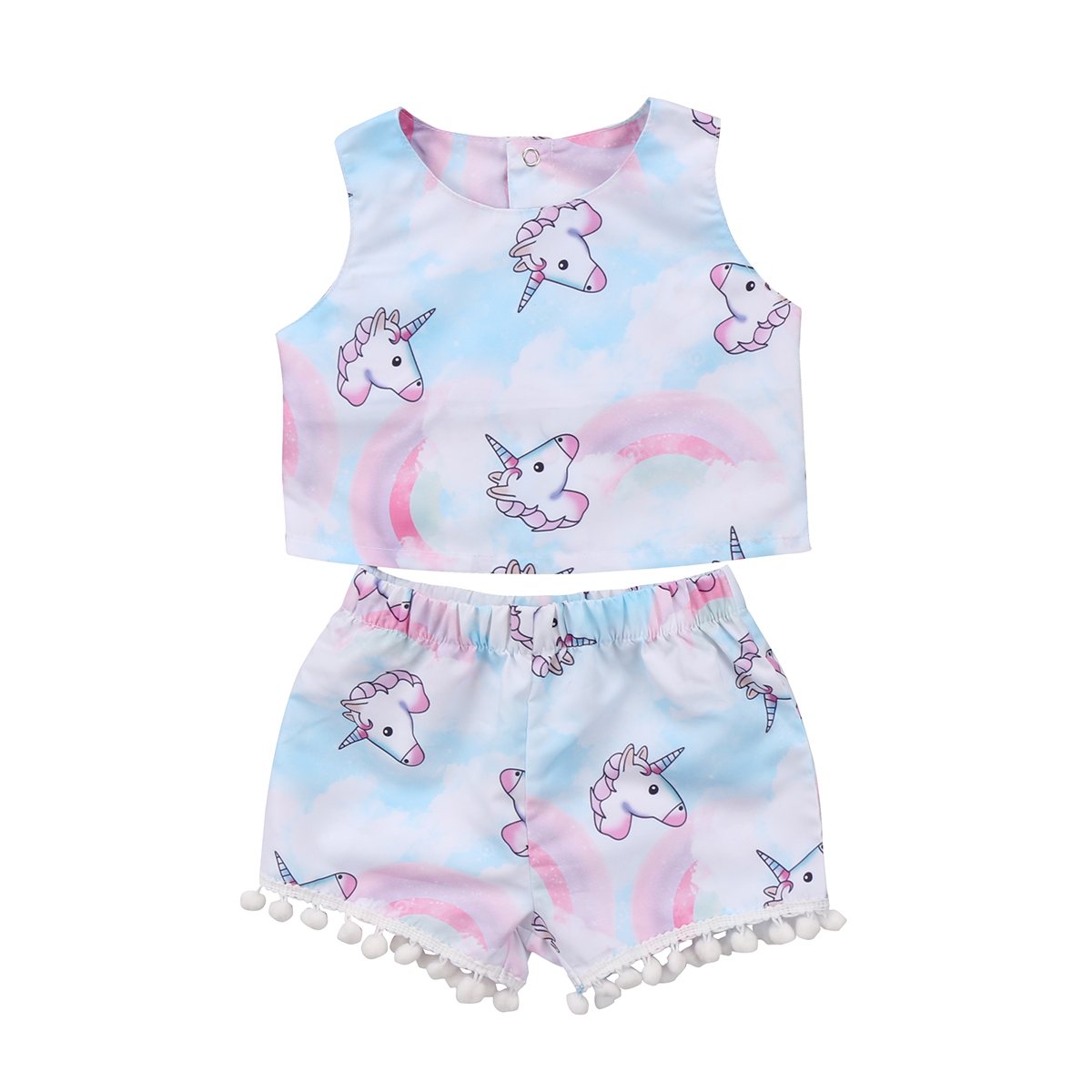 Toddler Baby Girl Kids Dress Tops T-shirt Shorts Pants Outfit Set Clothes Summer