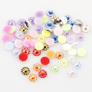 Fashion 4mm Nail Resin Rhinestone 1000pcs Nail Art Sun Flower Decoration About 15 Kind Colors For DIY Nail Art Decorations