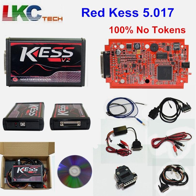 KESS V2 V5.017 Master Kess V2.47 V2.23 EU Red PCB No Token Limit ECU programming Ktag OBD2 Manager Tuning Kit For Car/Tractor dhl free shipping kess v2 obd2 tuning kit v2 10 ecu kess v2 master no token limitation 2 years warranty