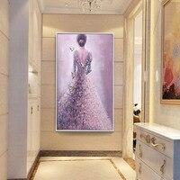 70*50 см свадебное платье Алмазная картина, DIY Полная Алмазная вышивка для женской спины, домашнее подвесное украшение, без рамки