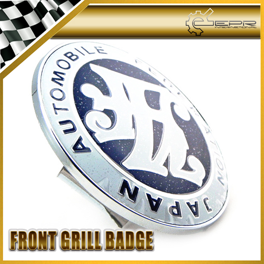 Car-styling Universal JDM JAF Front Grill Badge 90MM Diameter METAL BASE PLASTIC