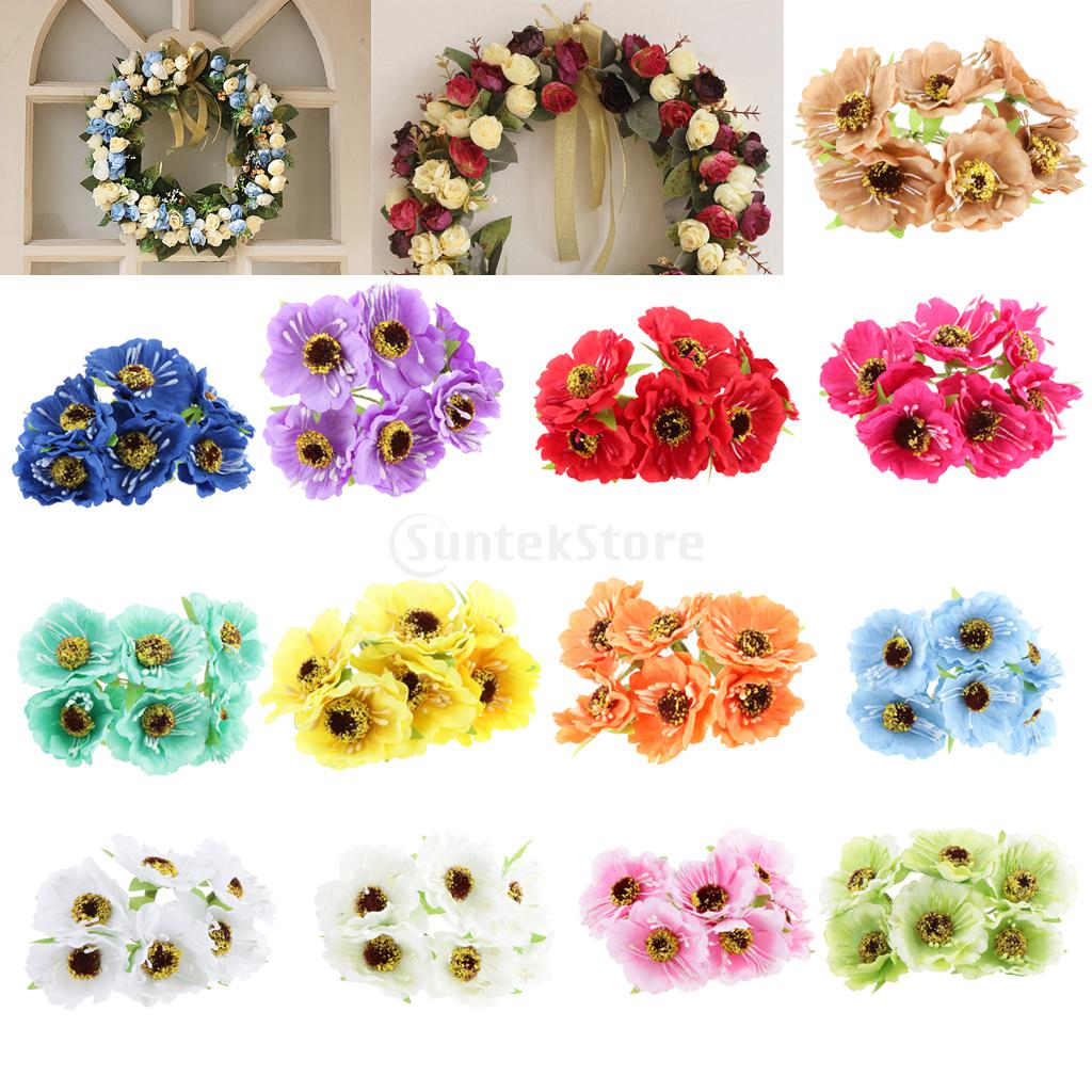 Artificial 60 head sunflower blossom silk flower bouquet for Artificial flower for wedding decoration