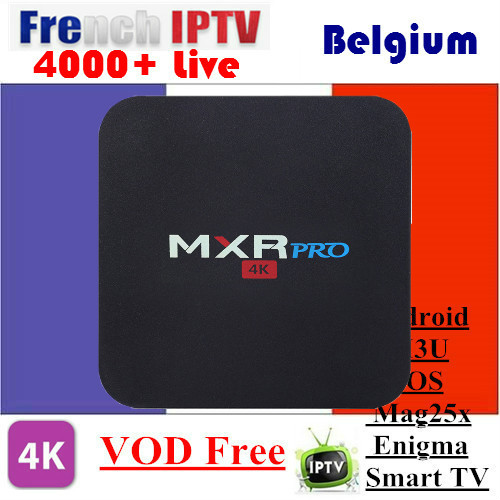 1 Year French IPTV Free VOD in MXR PRO RK3328 Android 7.1 Smart TV Box 4G 32GB Bluetooth 4.0 Set top Box Europe IPTV Arabic1 Year French IPTV Free VOD in MXR PRO RK3328 Android 7.1 Smart TV Box 4G 32GB Bluetooth 4.0 Set top Box Europe IPTV Arabic