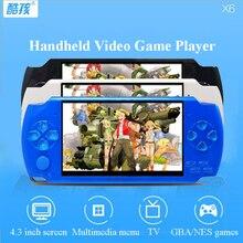 X6 Портативный Игры Игроки 4 Г 4.3 дюймов mp4 игрок Игровой Консоли Бесплатно 10000 Игры Электронная Книга Камеры Запись Игры консолей