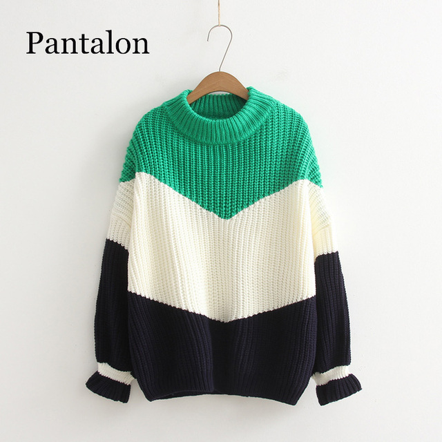 Pantalon Winter Pull Sweaters Women 2018 Fashion Loose Jumpers Korean  Pullovers Knitting Pullovers Thick Christmas Sweater Unif b4e3c2c6418f