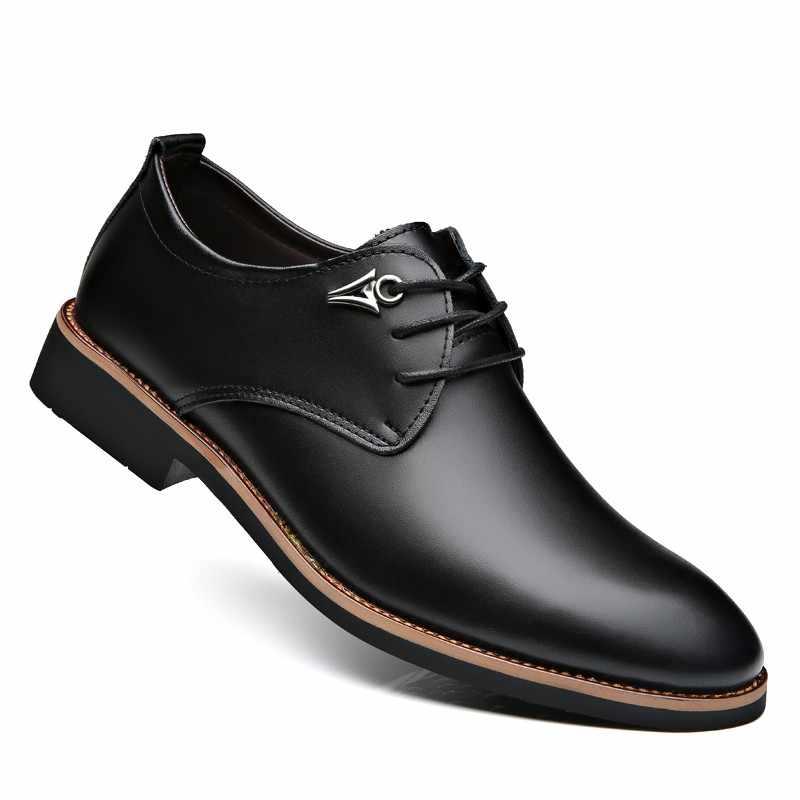 Luxury Brand Leather Concise Men