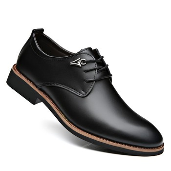 Luxury Brand Leather Concise Men Business Pointy Black Shoes Breathable Formal Wedding Basic Shoes Men Dress Shoes Fashion new luxury brand pu leather fashion men business dress loafers pointy black shoes oxford breathable formal wedding shoes